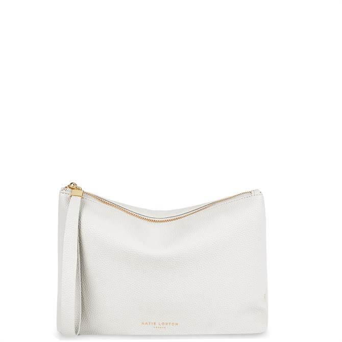 Katie Loxton Isa White Clutch Bag