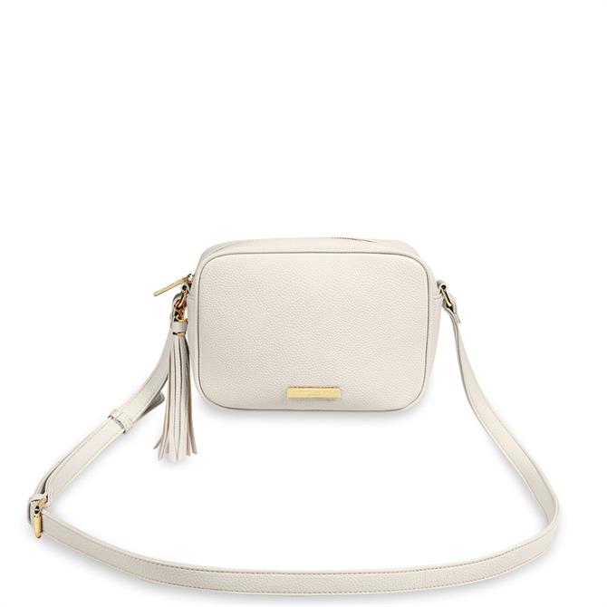 Katie Loxton Sophia Tassel Off White Crossbody Bag