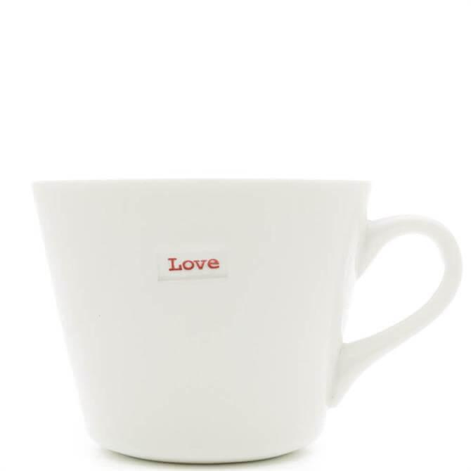 Keith Brymer Jones Love White Bucket Mug
