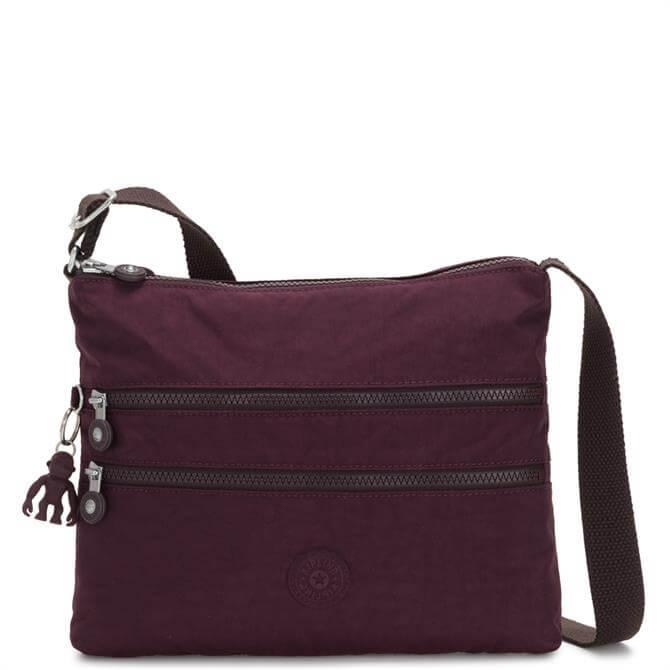 Kipling Alvar Dark Plum Across Body Shoulder Bag
