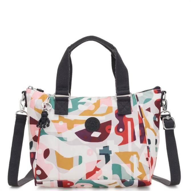 Kipling Amiel Music Print Medium Handbag