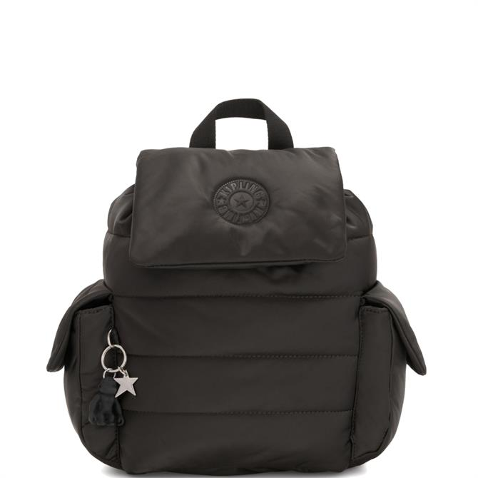 Kipling Cold Black Manito Small Puff Effect Backpack