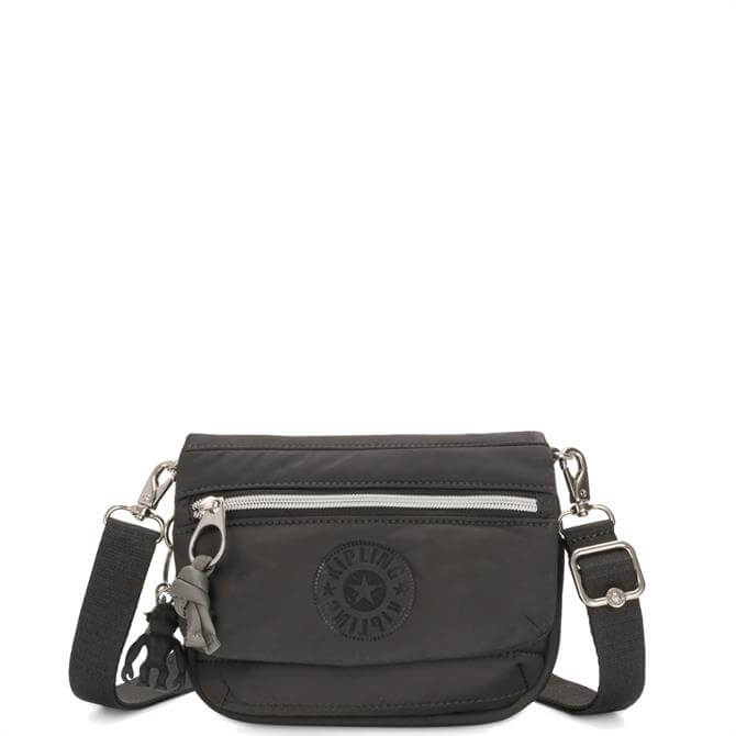 Kipling Cold Black Tulia Small Puff 2 in 1 Crossbody Bag