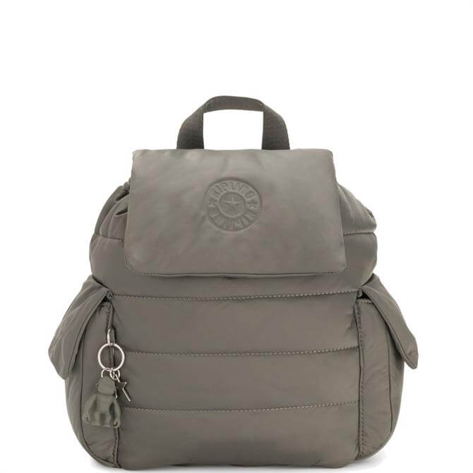 Kipling Mountain Grey Manito Small Puff Effect Backpack