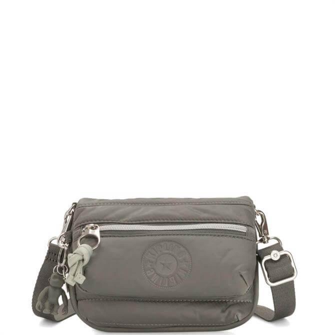 Kipling Mountain Grey Tulia Small Puff 2 in 1 Crossbody Bag
