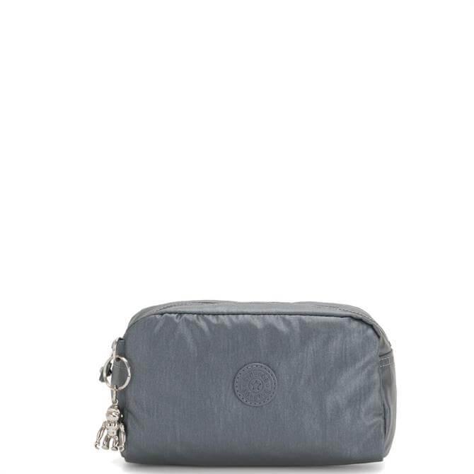 Kipling Steel Grey Gleam Medium Toiletry Bag
