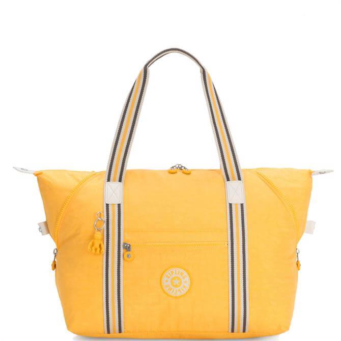 Kipling Art M Vivid Yellow Tote Bag
