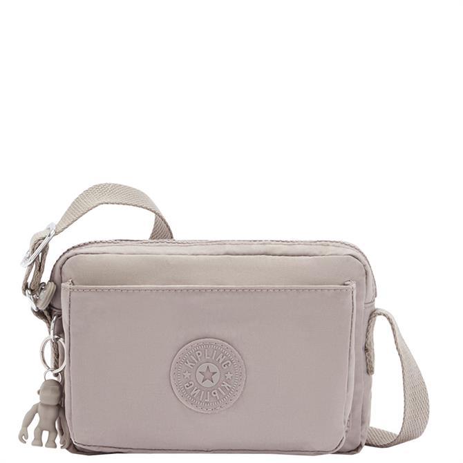 Kipling Abanu Grey Gris Mini Crossbody Bag