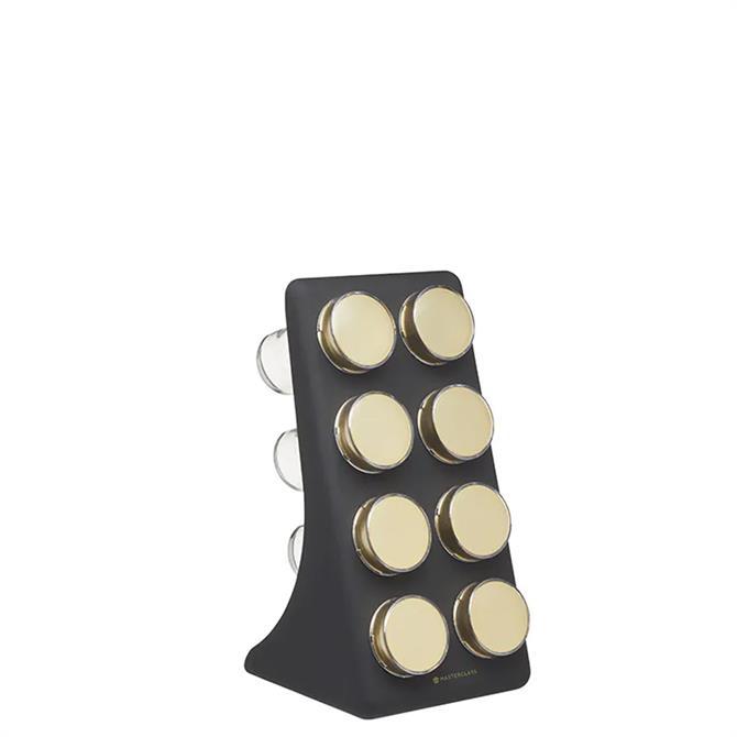 MasterClass Matt Black Eight Jar Spice Rack