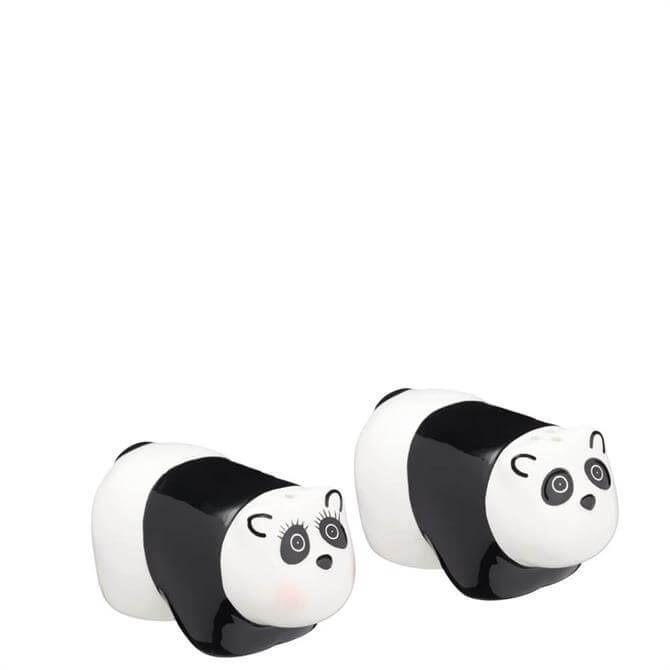 KitchenCraft Ceramic Panda Shaped Salt & Pepper Shakers
