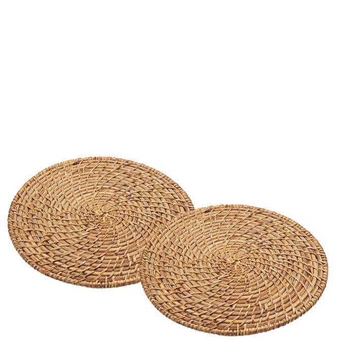 Artes� Set of 2 Bamboo Rattan Placemats