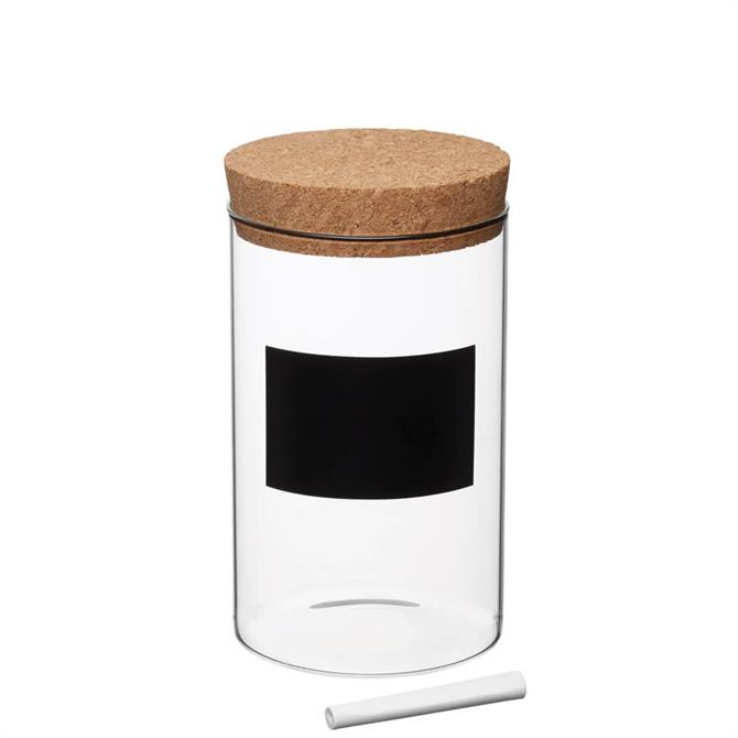 KitchenCraft Natural Elements Eco-Friendly Medium Glass Storage Canister