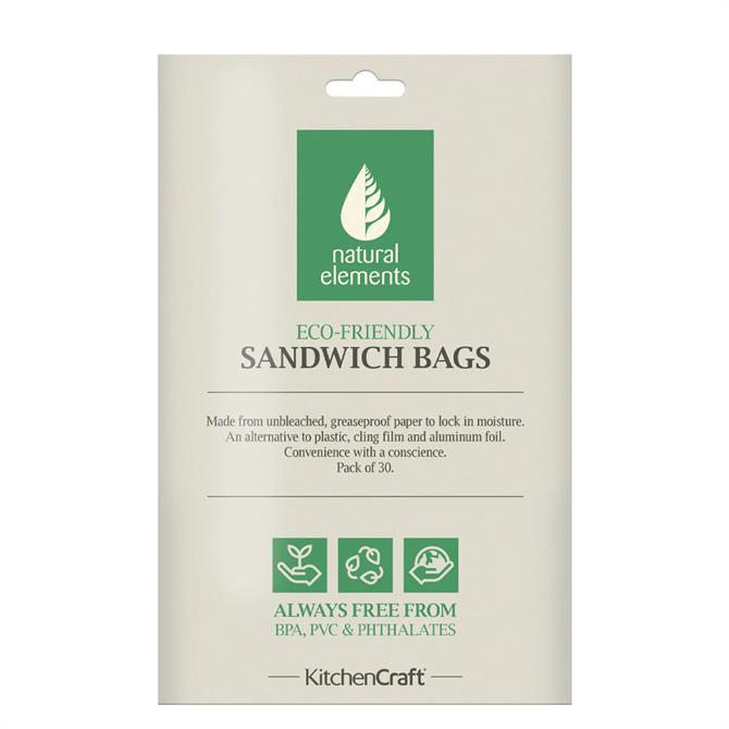 KitchenCraft Natural Elements Set of 30 Eco-Friendly Sandwich Bags
