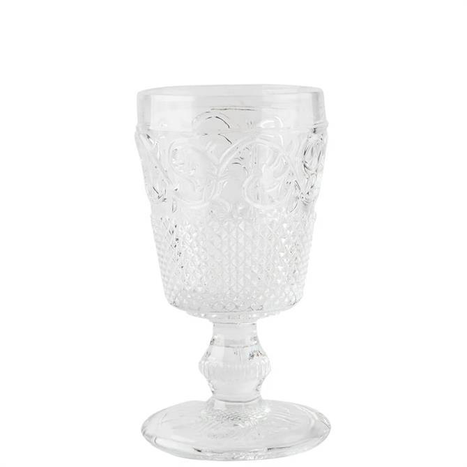 Katie Alice Vintage Indigo Clear Goblet