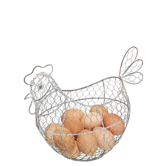 Classic Collection Wire Hen Egg Basket