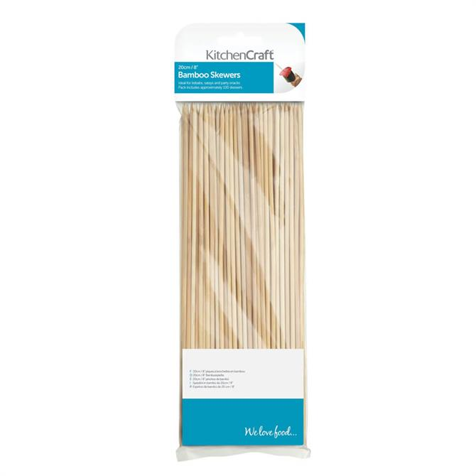KitchenCraft Pack of Bamboo Skewers 20cm