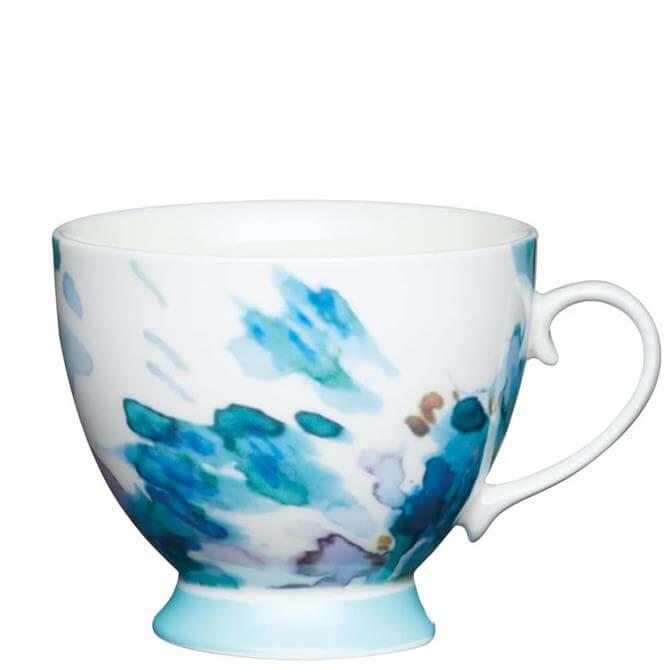 KitchenCraft Bone China Floral Footed Mug