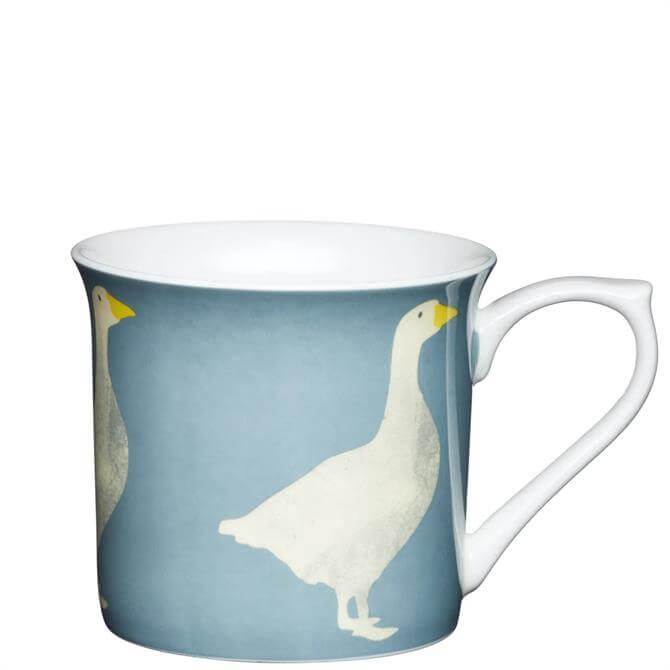 KitchenCraft Fine Bone China Fluted Goose Mug