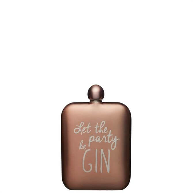 BarCraft 'Let the Party be Gin' Hip Flask
