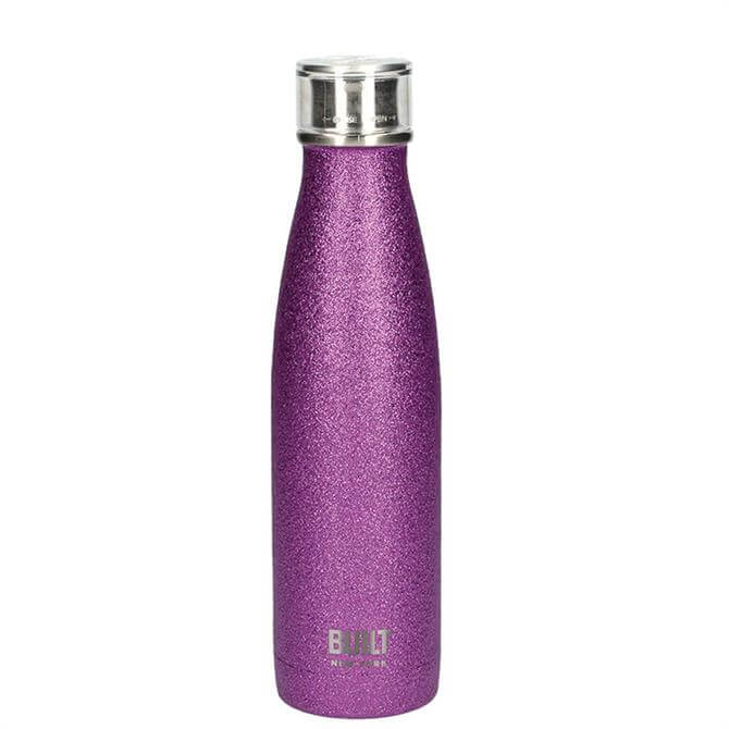 Bulit Purple Glitter 500ml Double Walled Stainless Steel Water Bottle