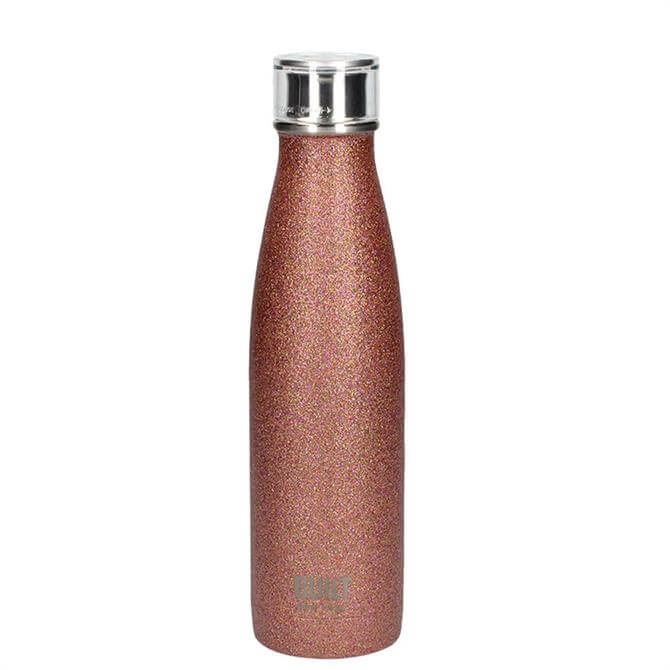 Bulit Rose Gold Glitter 500ml Double Walled Stainless Steel Water Bottle