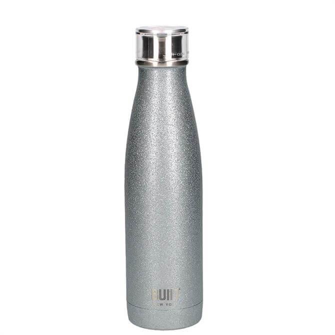 Bulit Silver Glitter 500ml Double Walled Stainless Steel Water Bottle