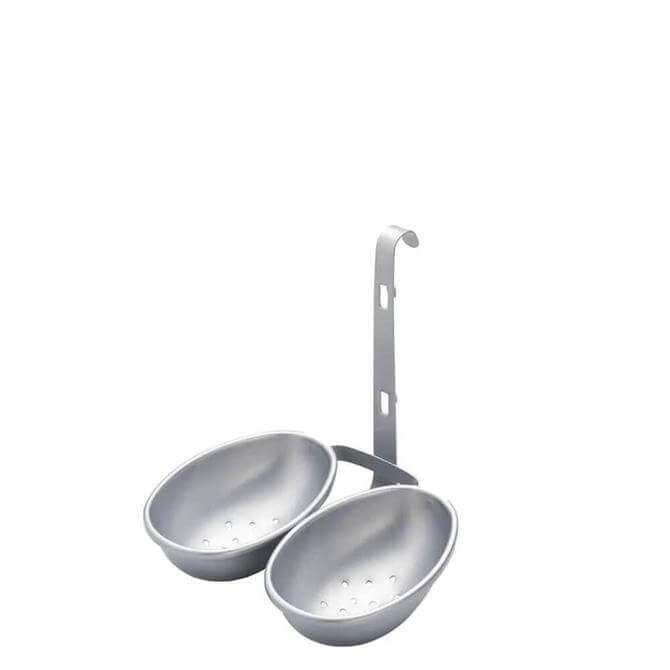 KitchenCraft Silver Stainless Steel Non Stick Twin Egg Poacher
