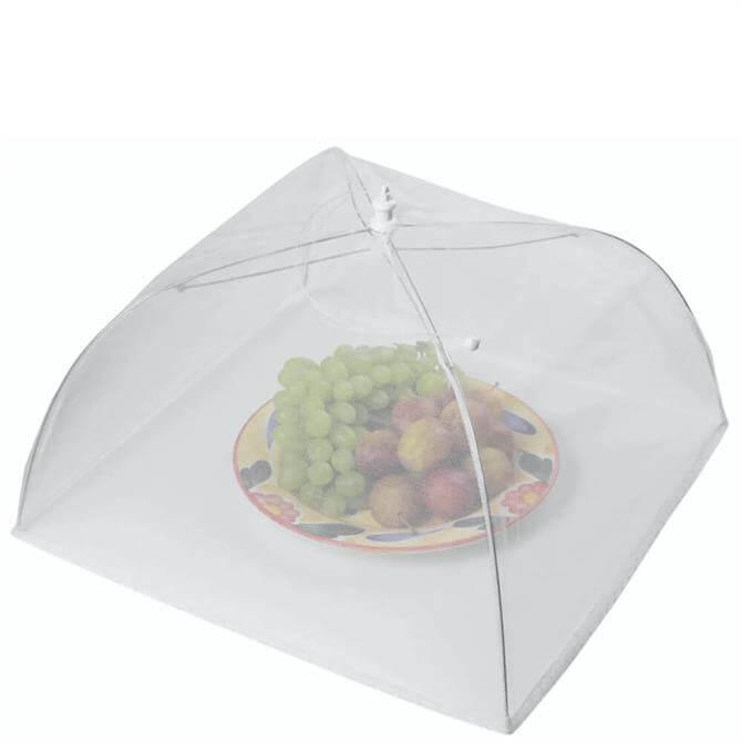 KitchenCraft 51cm White Umbrella Food Cover