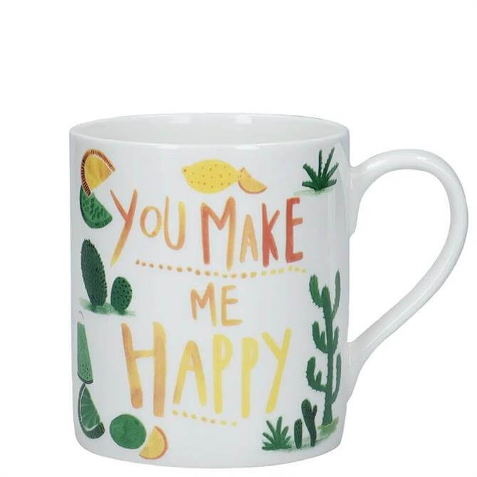 KitchenCraft �You Make Me Happy� Fine Bone China Mug