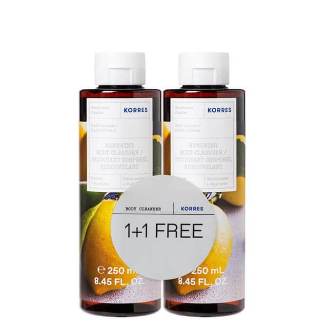 Basil Lemon Renewing Body Cleanser 2x 250ml