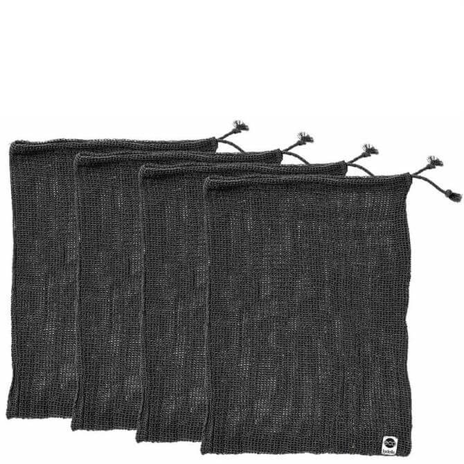 Ladelle Eco Recycled Cotton Set of 4 Charcoal Mesh Bags