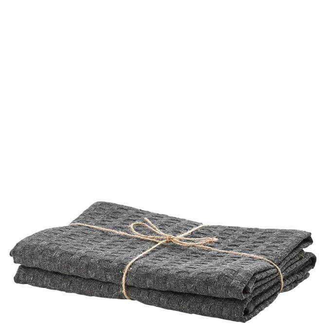 Ladelle Eco Recycled Cotton Charcoal Tea Towel