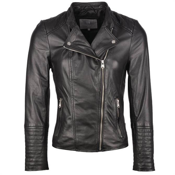Lakeland Leather Toni Leather Biker Jacket in Black