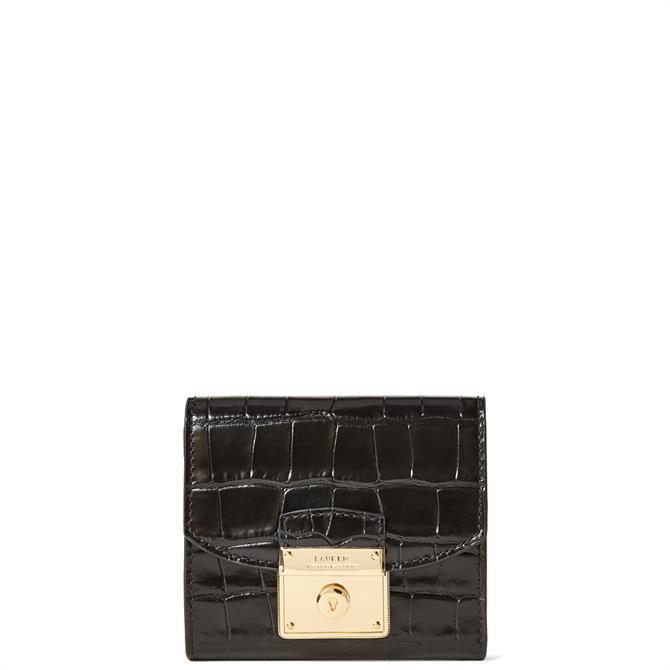 Lauren Ralph Lauren Black Leather Compact Wallet