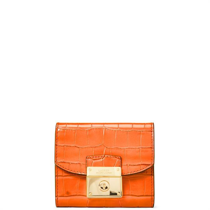 Lauren Ralph Lauren Persimmon Leather Compact Wallet