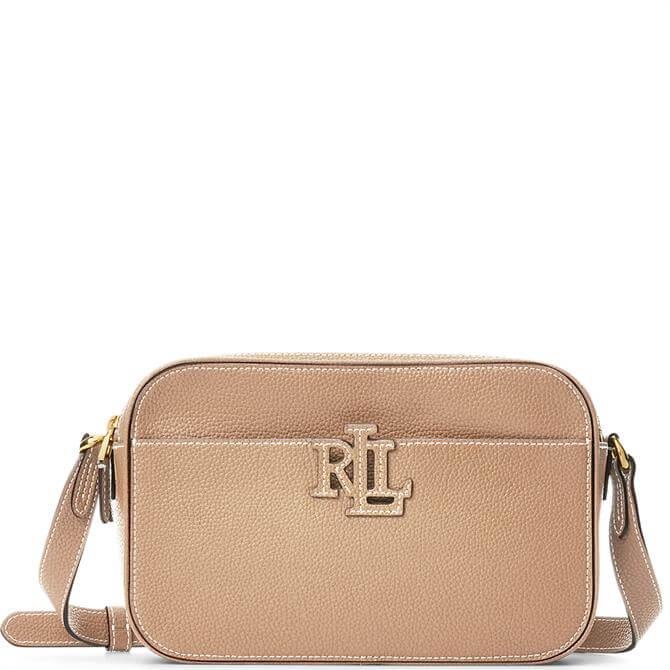 Lauren Ralph Lauren Nude Pebbled Leather Carrie Crossbody Bag