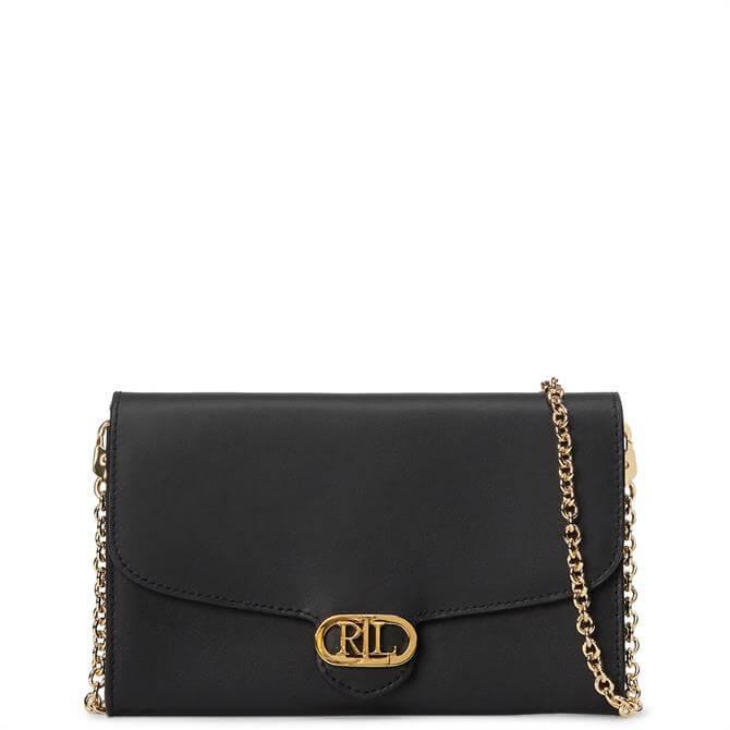 Lauren Ralph Lauren Black Leather Adair Small Crossbody Bag