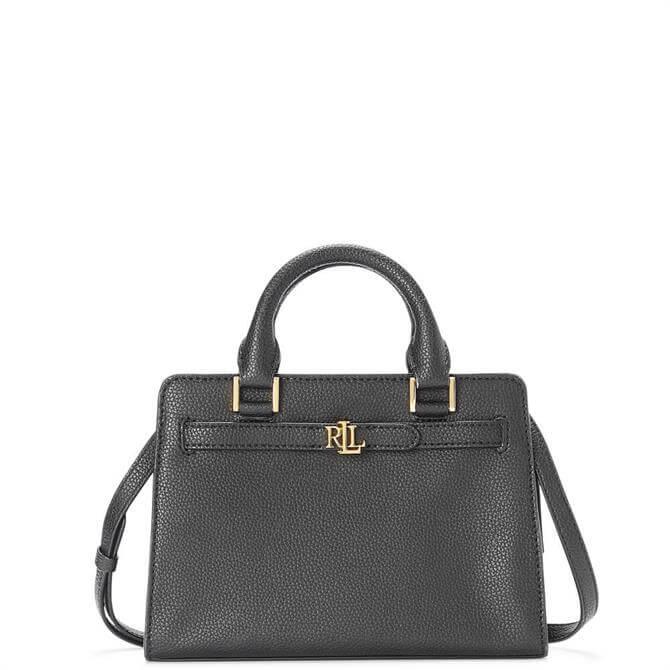 Lauren Ralph Lauren Black Leather Fenwick Crossbody Bag