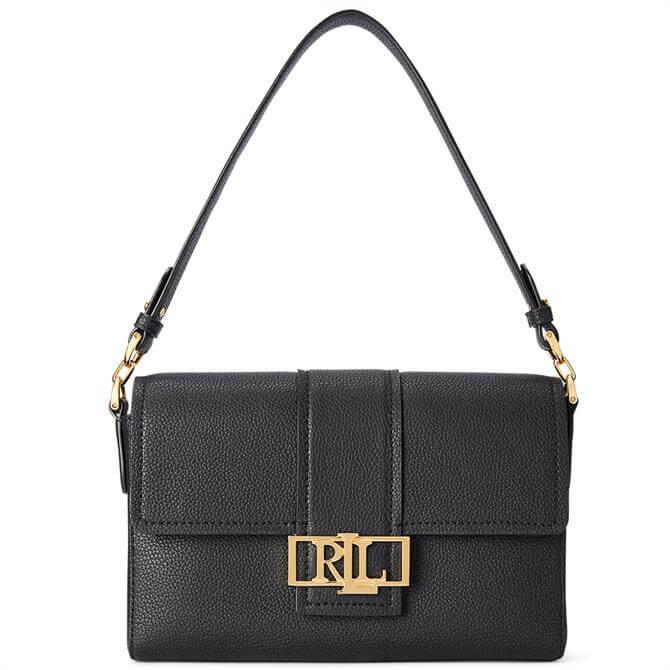 Lauren Ralph Lauren Black Leather Spencer Shoulder Bag