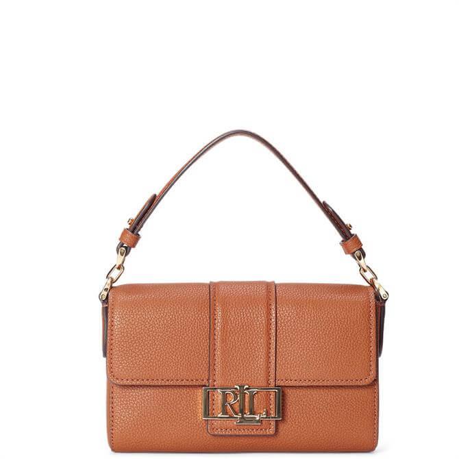 Lauren Ralph Lauren Tan Leather Spencer 21 Shoulder Bag