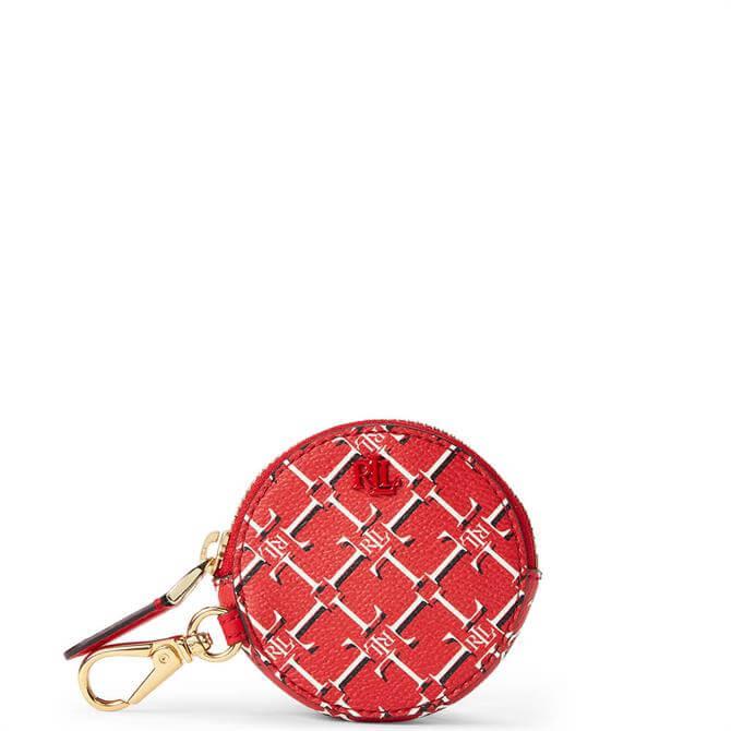 Lauren Ralph Lauren Red Heritage Logo Vegan Leather Coin Purse