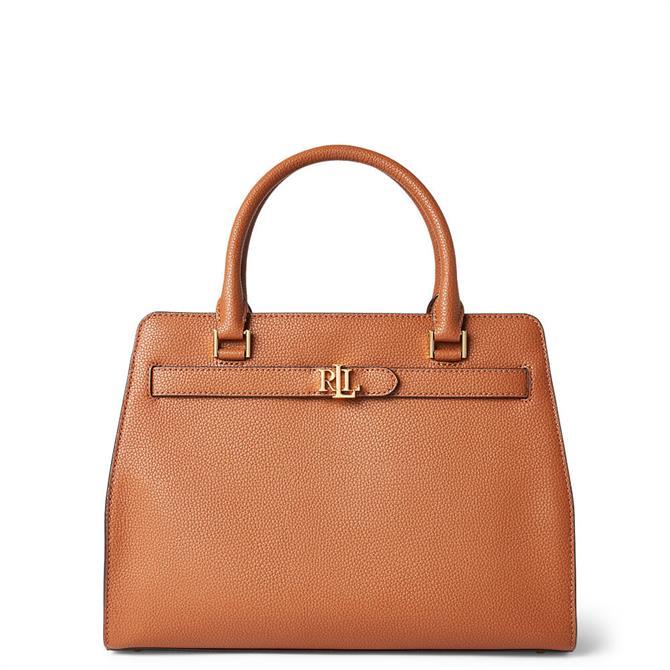 Lauren Ralph Lauren Tan Leather Medium Fenwick Satchel
