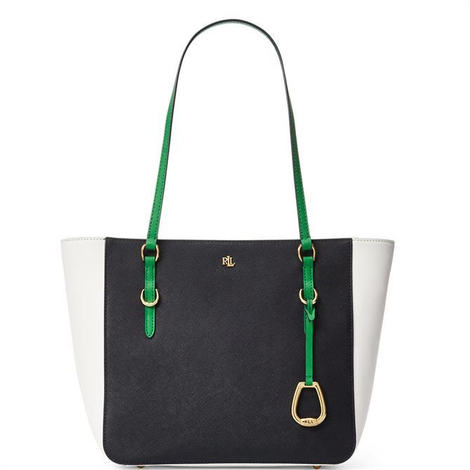 Lauren Ralph Lauren Saffiano Leather Medium Shopper Bag