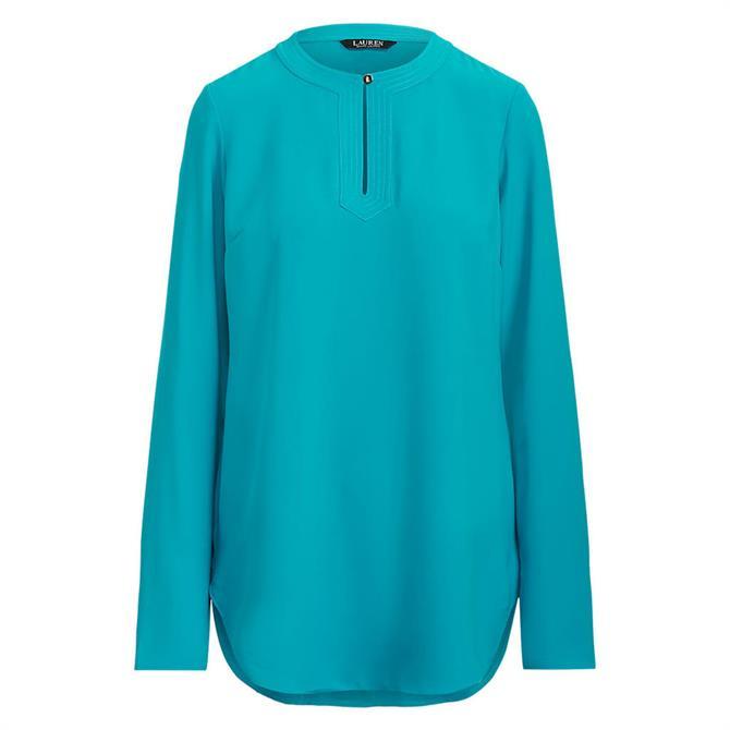Lauren Ralph Lauren Georgette Long-Sleeve Tunic
