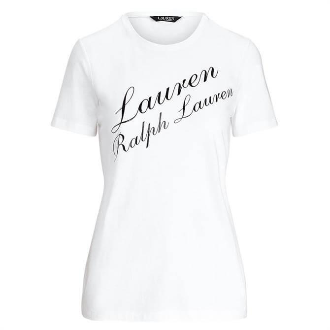 Lauren Ralph Lauren Script Logo Jersey Tee