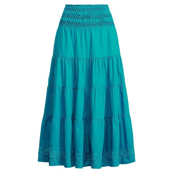 Lauren Ralph Lauren Cotton-Linen Voile Peasant Skirt