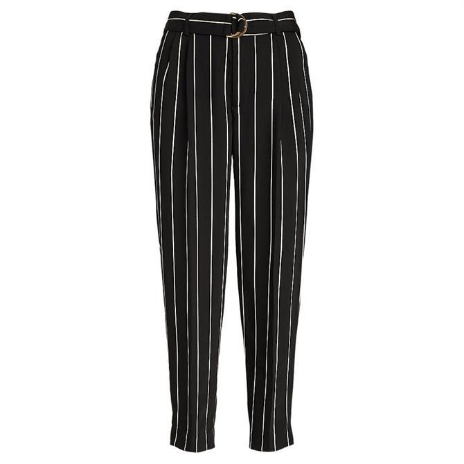 Lauren Ralph Lauren Pinstripe Satin Ankle Trousers