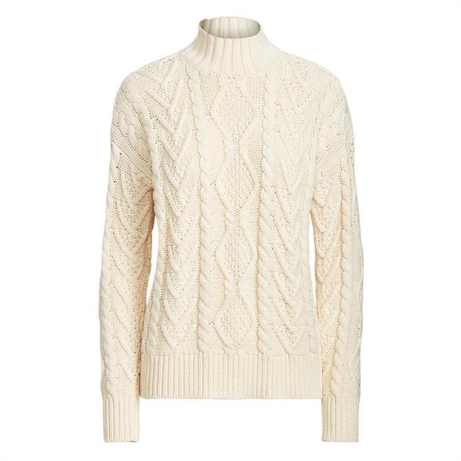 Lauren Ralph Lauren Cable-Knit Mockneck Sweater