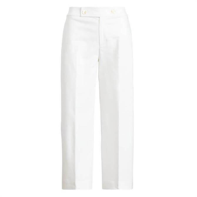 Lauren Ralph Lauren Double Faced Cotton Wide Leg Trouser