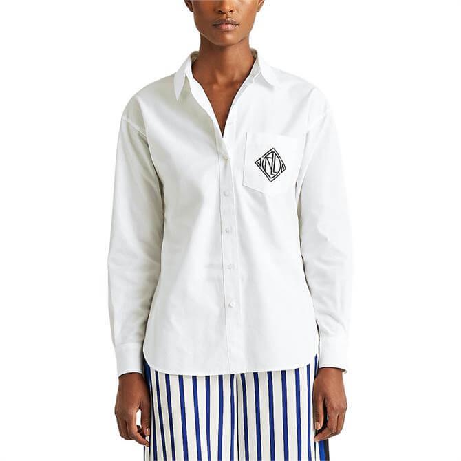 Lauren Ralph Lauren Logo Cotton Broadcloth Shirt